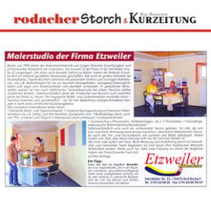 Eröffnung Malerstudio Etzweiler