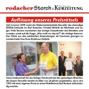 Artikel - Storch - September 2010