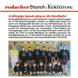 Artikel - Storch - September 2013