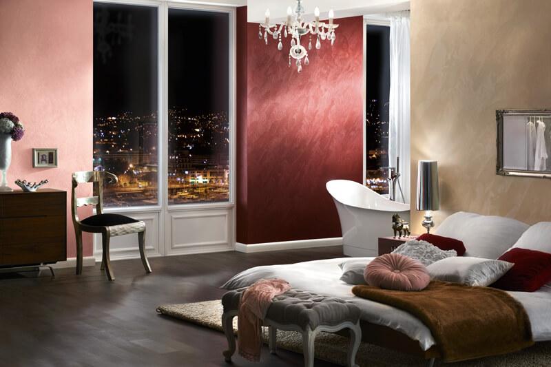 Brillux Creativ Metallico Schlafzimmer