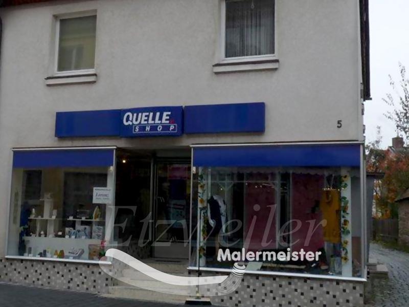 Fassadenanstrich und Oberputz, nebst Fassadenbeschriftung | Maler Etzweiler