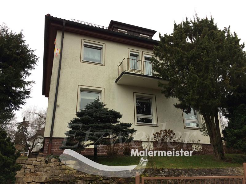 Armierung und Vorher - Oberputz - Maler Etzweiler