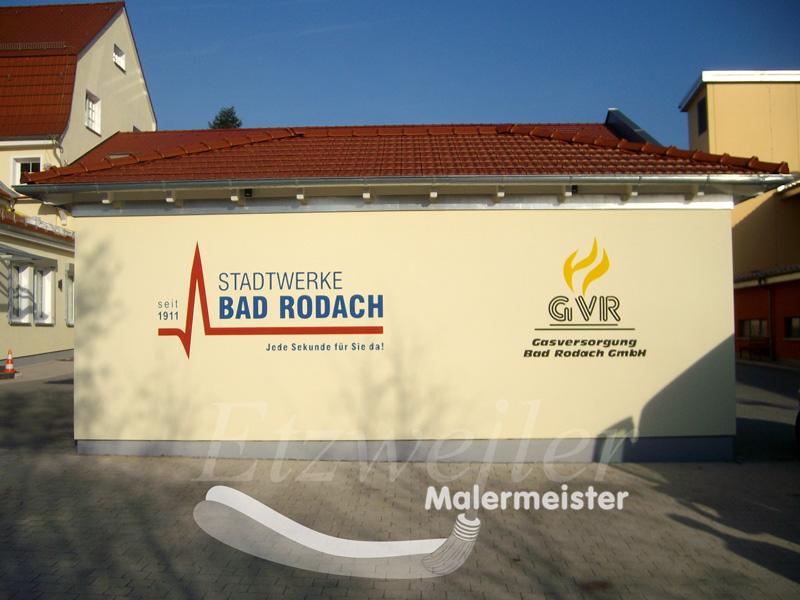 Nachher - Fassadenbeschriftung - Maler Etzweiler