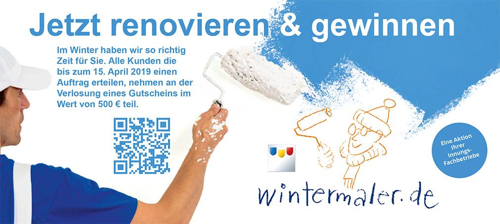 Flyer - Wintermaler 2018/2019 - Malermeister Etzweiler